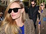 Kate Bosworth makes her way to SiriusXM Radio studios with husband Michael Polish on Monday