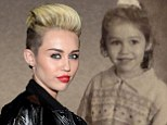 Miley Cyrus posted an elementary school picture of herself on Twitter