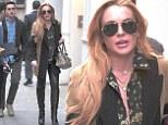 Lindsay Lohan looks her best yet as she walks through Soho in New York on Monday