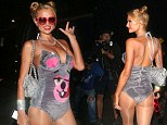 Paris Hilton splashes $5000 on multiple outrageous Halloween costumes as she transforms from a twerking Miley Cyrus to Katy Perry's jungle woman
