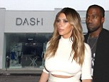 His 'n' Hers! Kanye West opens Yeezus tour pop-up shop next door to fiancée Kim Kardashian¿s boutique in LA