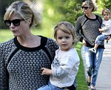 Selma Blair takes an afternoon stroll with her son Arthur at the Beverly Hills Hotel