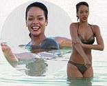 Rihanna enjoys a swim in the Dead Sea