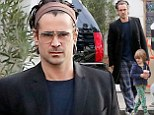 Pyjama party! Colin Farrell and son Henry roll out of bed and head out for smoothies in their sleepwear during lazy Sunday