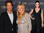 Rob Lowe attends the premiere of Killing Kennedy with wife Sheryl Berkoff in Washington DC on Monday evening