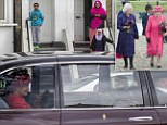 The Queen and The Duchess of Cornwall this morning visited the Ebony Horse Club, Brixton. They watched a display by members