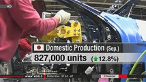 Japan auto production rose in September 2013