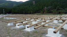 Wooden Mounting System Employed for 1.3MW Solar Power Plant