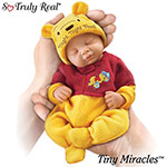 """Tiny Miracles Winnie The Pooh Night, Night Pooh Realistic Sleeping Baby Doll With Sleeper - Exclusive 10"""" Miniature Winnie the Pooh Doll with Sleeper! Posable Sleeping Realistic Baby Doll by Artist Fiorenza Biancheri"""