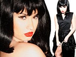 The dark side of Demi: Lovato bares her leg in retro-style black satin and lace dress in provocative new book from photographer Tyler Shields