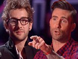 In for the steal: Adame Levine stole a singer from Christina Aguilera's team on Tuesday night's episode of The Voice as the mentors continued to whittle their teams