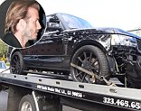 David Beckham's Range Rover Sport picked up following car crash outside Beverly Hills home