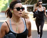 This is how you stay in shape! Eva Longoria went for a rigorous run around her neighbourhood in Hollywood, California on Tuesday