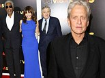 Michael Douglas cosies up to co-stars at Last Vegas NYC premiere as he remains estranged from wife Catherine Zeta-Jones
