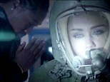 Miley Cyrus covers up for a change in space suit in new teaser clip for Future's Real & True music video