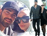 Still very much in love: Jesse Metcalfe and his fiancee Cara Santana walked arm in arm as they headed to Urth Caffe in Los Angeles, California on Tuesday