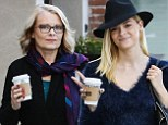 That's where she gets her good looks from! Jaime King and her mirror image mother Nancy go on coffee run