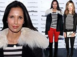 Stars in stripes: Rose Byrne and Padma Lakshmi step out in almost identical tops at benefit gala in New York