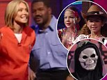 Cute costumes: Kelly Ripa's son is a skeleton, and Michael Strahan's twins are a hippie chick and cowgirl during show's Halloween special