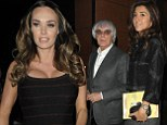Tamara Ecclestone hides all signs of growing tum in striped skater dress as she celebrates father Bernie's 83rd birthday with family