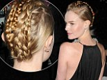 Kate Bosworth shows off her plaited updo at the Big Sur premiere