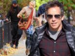 The art of multitasking! Naomi Watts takes a quick break from shooting While We're Young with Ben Stiller to walk her dog