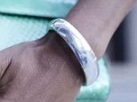 Alert system: The new high-tech bracelet called MEMI vibrates when the wearer has an incoming call or message