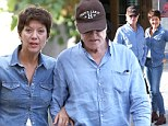 Doing the double! Robert Redford and wife Sibylle wear matching all-denim ensembles in France