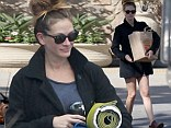 Time to refuel! Julia Roberts rejuvenated from her 46th birthday shenanigans by going grocery shopping in Malibu, California on Tuesday