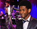 Super style: Usher attended Gabrielle's Angel Foundation 2013 Angel Ball in New York City in an eye-catching retro look