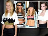 Gwyneth Paltrow has been the latest celebrity to model a crop top