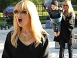 Silly on the swings! Pregnant Rachel Zoe enjoyed an afternoon at the park with her son Skyler in Beverly Hills, California on Wednesday