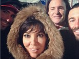 Sticking together: Kris Jenner posted a snap of herself with estranged husband Bruce Jenner and his two sons Brandon and Brody at Kendall's birthday party, on Monday