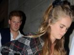 Close: Prince Harry and Cressida Bonas on a date earlier this month, just before they spent a weekend together at Sandringham in Norfolk