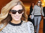 Blake Lively is chic in clashing sweater and houndstooth trousers, day after being named new face of L'Oreal