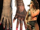 Rihanna flies her tattoo artists 1,500 miles to spend 11 hours making her New Zealand tribal art work 'pretty'