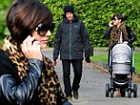 Frankie Sandford enjoys a day out with her family on Wednesday