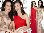 Seeing double! Andie MacDowell and gorgeous daughter Rainey Qualley dazzle Prix Montblanc event in Berlin