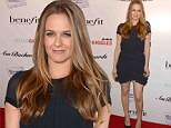 The long and short of it! Alicia Silverstone shows off her lean legs in a thigh skimming frock for Hollywood premiere