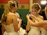 Selfie: A debutante takes a picture of herself to capture the moment