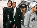 Newlyweds Pharrell Williams and Helen Lasichanh make a glamorous transformation for charity ball