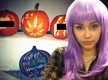 'Happy f***ing Halloween!' Miley Cyrus carves X-rated pumpkins referencing sex and drugs ahead of spooky holiday