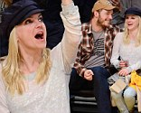 Sports fans: Chris Pratt and his wife Anna Faris cheered on Tuesday as they watched a basketball game between the Los Angeles Clippers and Lakers at the Staples Center in downtown Los Angeles