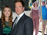 Baby boy: Michael Weatherly , shown in August with his pregnant wife Bojana Jankovic in West Hollywood, California, announced on Tuesday that she had delivered a baby boy