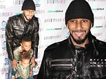 Proud papa: Swizz Beatz is joined by sons Egypt and Kasseem at Halloween-themed launch of his six-year-old's 'kids' inspiration site' Kasseem's Dream