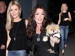 Reality stars Joanna Krupa and Lisa Vanderpump head out for dinner