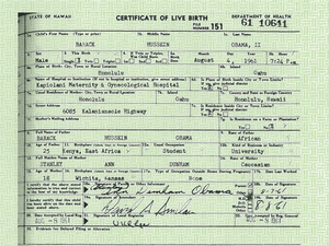 This handout image provided by the White House shows a copy of the long form of President Barack Obama's birth certificate from Hawaii.