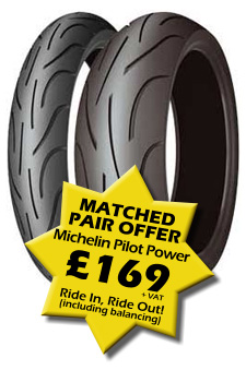 Matched Pair Offer - Michelin Pilot Power's for £169 + VAT
