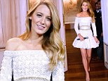 Blake Lively makes angelic debut as the face of L'Oreal in white mini-dress