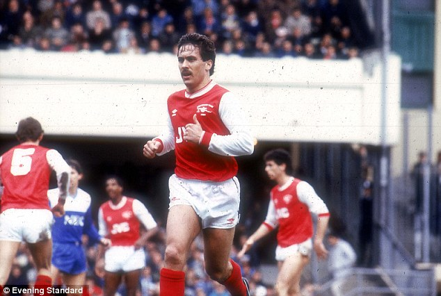 Gunners hero: Sansom went onto play for Arsenal for eight years